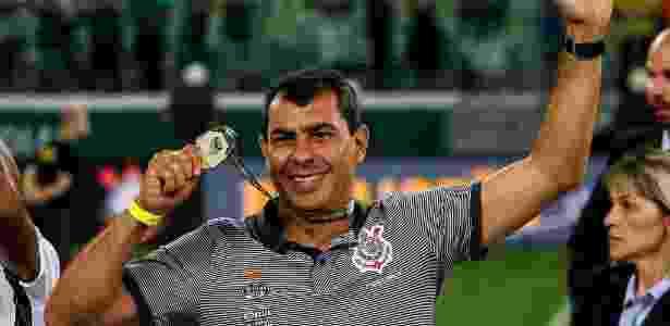 Fábio Carille celebra título paulista do Corinthians após duelo contra o Palmeiras - Rodrigo Gazzanel / Ag. Corinthians