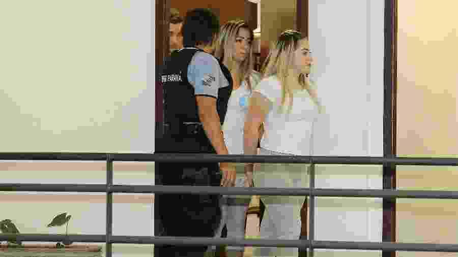 Cristiana e Allana Brittes na audiência de instrução do caso Daniel - GIULIANO GOMES/PR PRESS/ESTADÃO CONTEÚDO