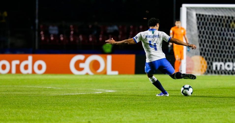 Marquinhos no jogo Brasil x Bolívia na estreia da Copa América