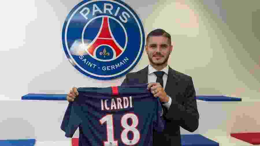 PSG anuncia contratação do argentino Mauro Icardi - reprodução/Twitter