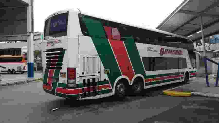 Ônibus da empresa Ormeño irá levar torcedores do Flamengo a Lima para a final da Libertadores - Diego Salgado/UOL Esporte