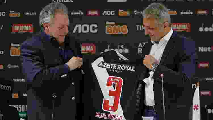 Alexandre Campello apresenta Abel Braga como o técnico do Vasco - Rafael Ribeiro/Vasco