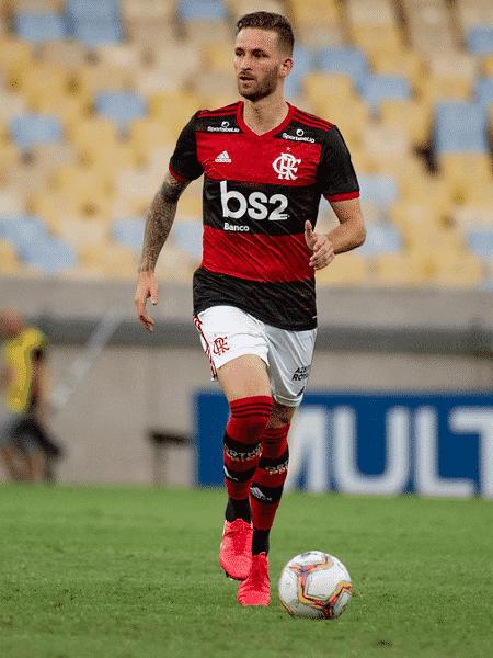 Léo Pereira é o preferido de Jorge Jesus para ser o companheiro de zaga de Rodrigo Caio no Flamengo - Marcelo Cortes/Flamengo