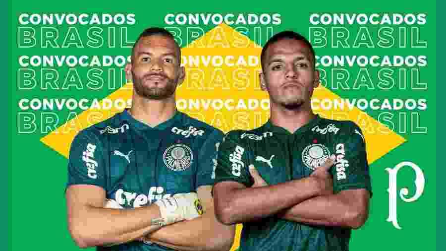 Weverton e Gabriel Menino comemoram convocação à seleção brasileira - Divulgação