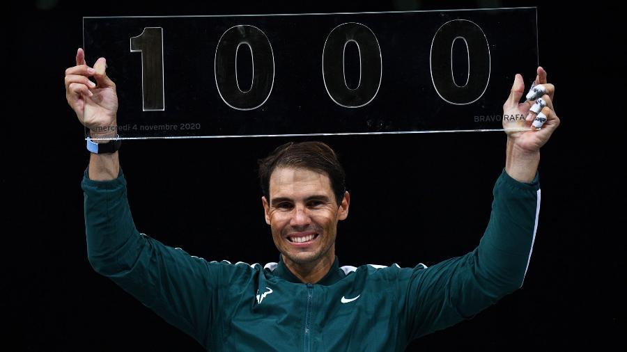 Rafael Nadal celebra marca de mil vitórias na carreira - Divulgação / ATP