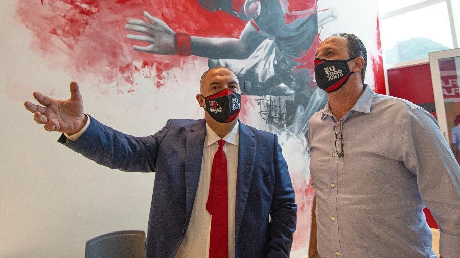 Estou com Rogério até o fim, diz vice-presidente do Flamengo