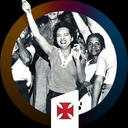 Dulce Rosalina: Em 1956, vascaína foi a primeira mulher a se tornar presidente de uma torcida organizada no Brasil - Divulgação / Vasco