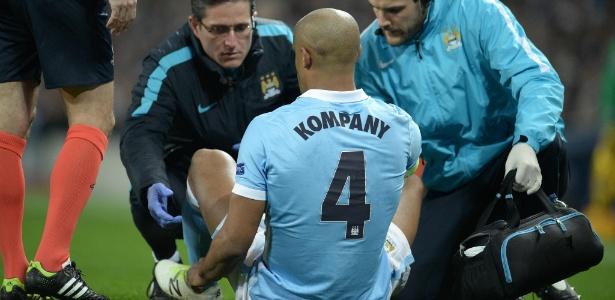 Kompany ainda não está 100% recuperado de lesão na panturrilha que o afastou dos gramados