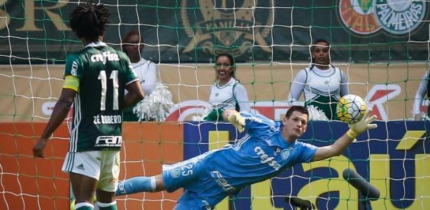 Com o desfalque de Fernando Prass, Vagner segue no gol do Palmeirsa