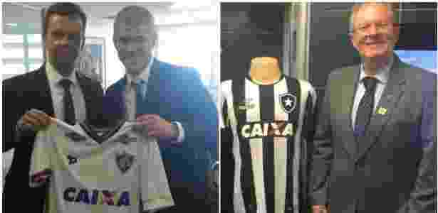 Fluminense e Botafogo já podem expor logo da Caixa, mas ainda não assinaram contrato de patrocínio - Divulgação/Caixa
