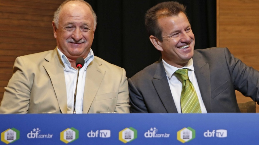 Técnicos Felipão e Dunga em evento da CBF - Por Andrew Downie