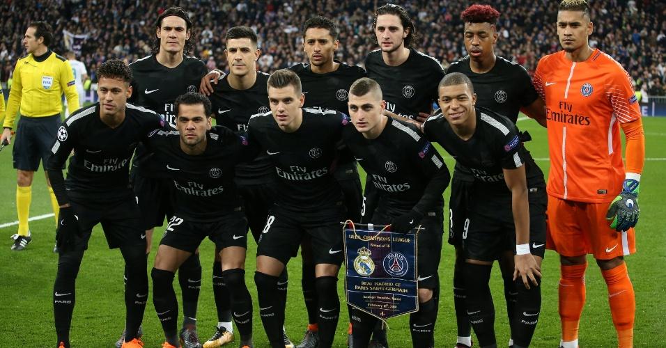 PSG entrou em campo com: Areola; Dani Alves, Marquinhos, Kimpembe, Berchiche; Verratti, Lo Celso, Rabiot; Mbappé, Cavani e Neymar