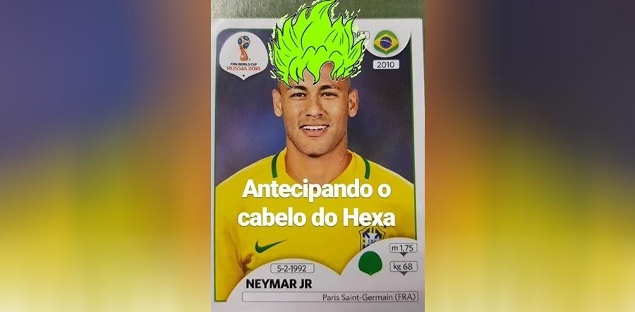 Neymar ganhou cabelos verdes no Instagram de Andreoli