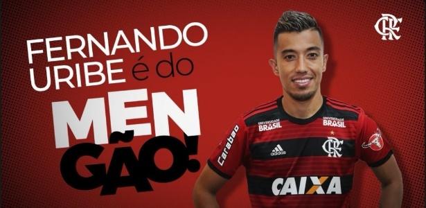 Fernando Uribe é reforço do Flamengo e chega para substituir Paolo Guerrero