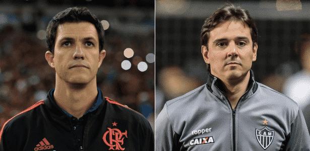 Os novatos Barbieri e Larghi vivem momentos opostos em Flamengo e Atlético-MG - Montagem/UOL