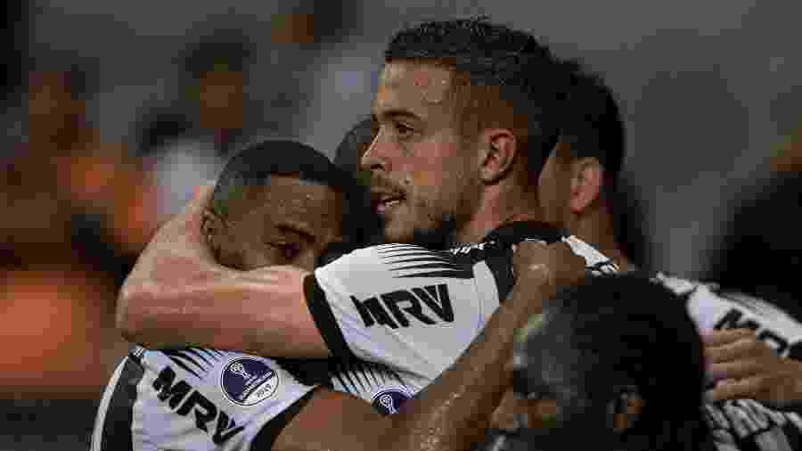 Di Santo comemora gol do Atlético-MG contra o Colón - Alessandra Torres/AGIF