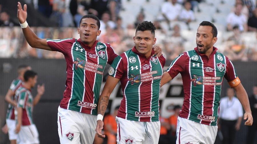 Nenê, Evanílson e Marcos Paulo fizeram 16 dos 26 gols do Fluminense em 2020 - Bruno Ulivieri/AGIF