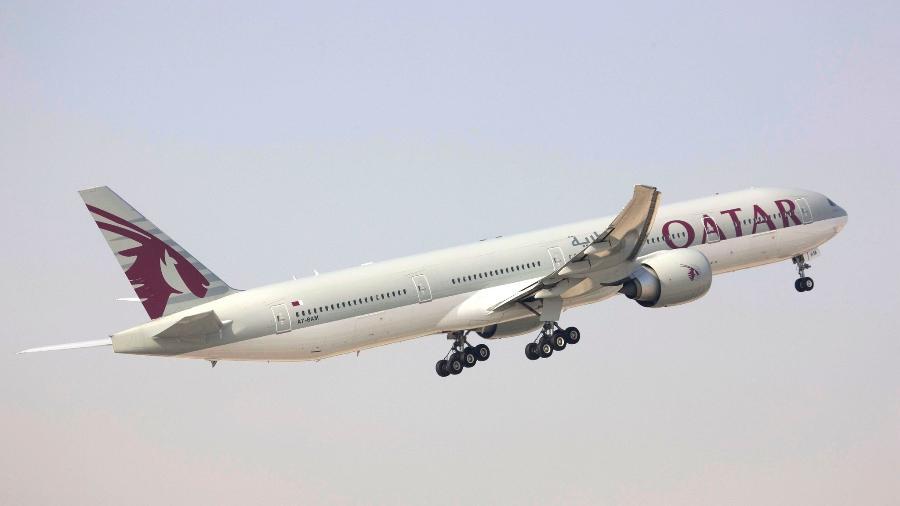 Homem de 50 anos chegou ao Brasil em um voo da Quatar. Ele apresentou RT-PCR negativo para covid-19 e se mantém assintomático - Divulgação/Qatar Airways