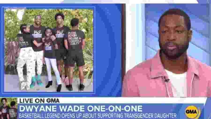 Dwyane Wade durante participação no programa Good Morning America, da ABC - Reprodução/ABC