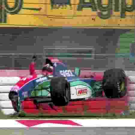 Acidente de Rubens Barrichello nos treinos livres do GP de San Marino em 1994 - DPPI - DPPI