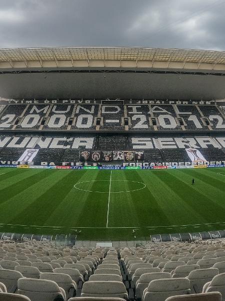 Neo Química Arena antes do dérbi entre Corinthians e Palmeiras, pelo Campeonato Paulista - Marcello Zambrana/AGIF