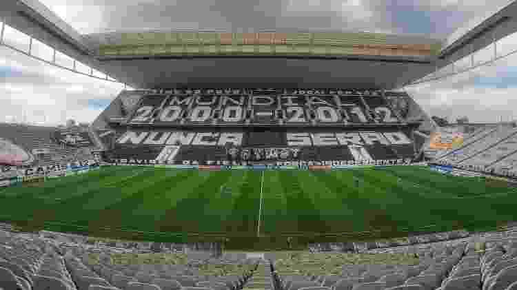 Neo Química Arena antes do dérbi entre Corinthians e Palmeiras, pelo Campeonato Paulista - Marcello Zambrana/AGIF - Marcello Zambrana/AGIF