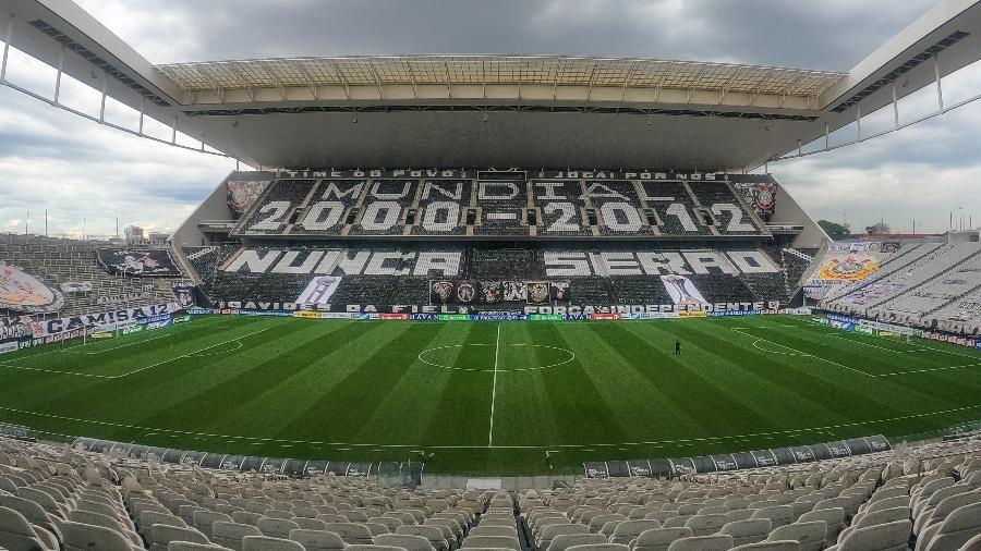Arena corintiana foi inaugurada em maio de 2014 e foi sede da Copa do Mundo no Brasil - Marcello Zambrana/AGIF