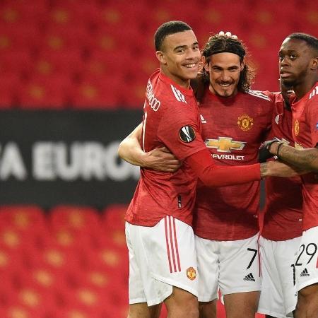 Manchester United durante partida contra o Granada - Oli SCARFF / AFP