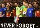 Homenagem a mortos em 85 marca 1ª vitória da Bélgica como líder do ranking - Claudio Villa/Getty Images
