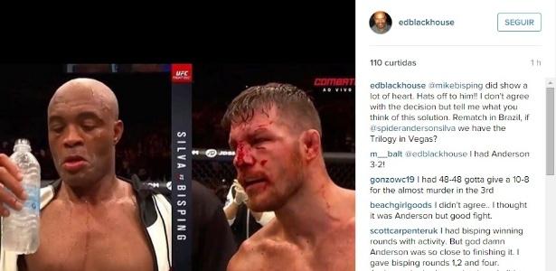 Empresário de Anderson Silva pediu revanche contra Bisping no Brasil - Reprodução/Instagram