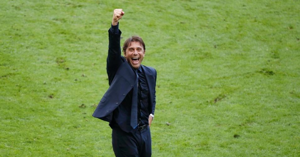 Conte comemora classificação da seleção italiana na Euro
