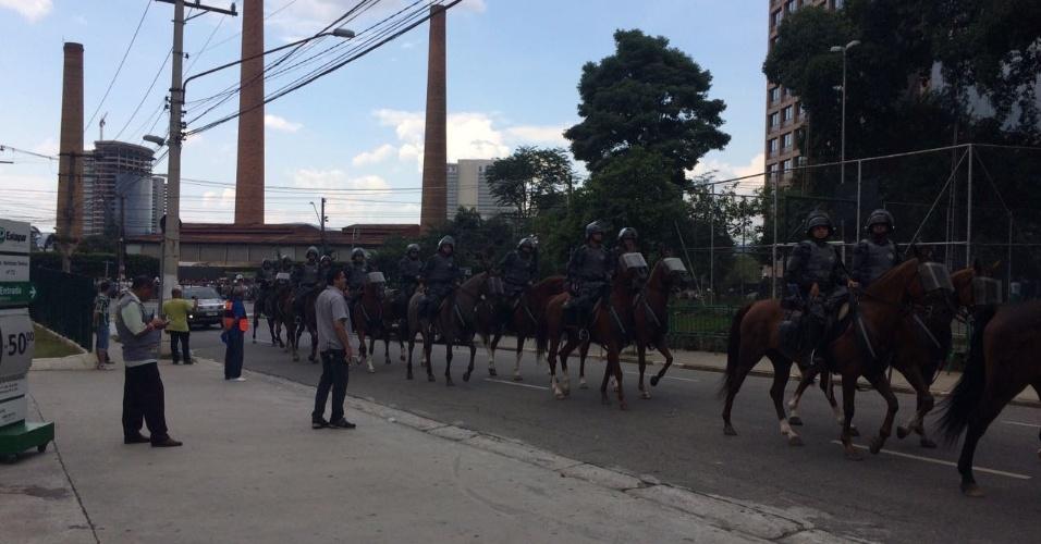Polícia monta esquema para chegada do palmeiras