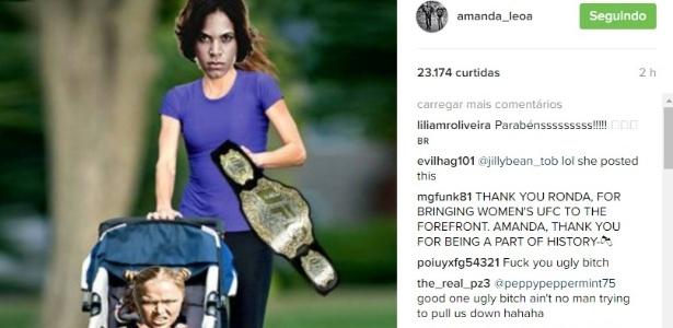 Amanda Nunes provoca ronda Rousey na web após vitória  - Reprodução/Instagram