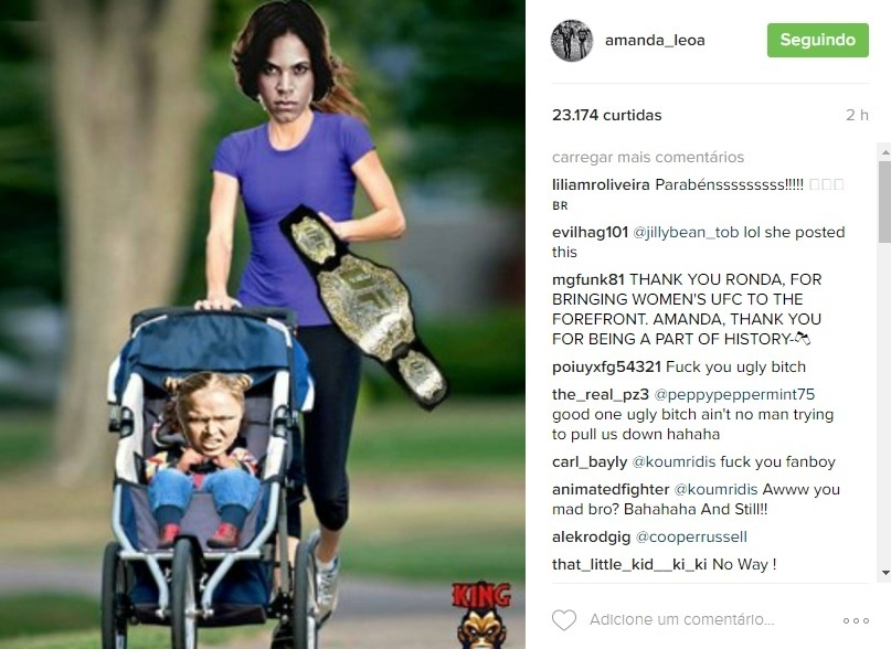 Amanda Nunes provoca ronda Rousey na web após vitória