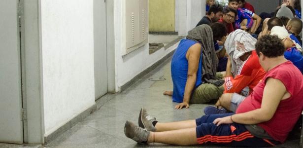Chilenos são detidos na Arena Corinthians: confusão generalizada
