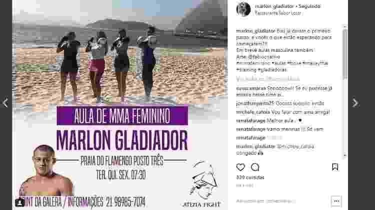 Marlon na praia Insta - Divulgação - Divulgação