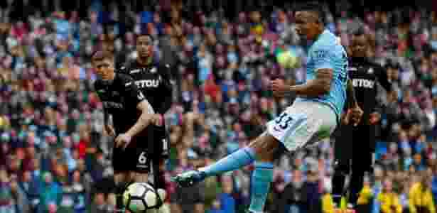 Gabriel Jesus desperdiça pênalti contra o Swansea - Phil Noble/REUTERS - Phil Noble/REUTERS