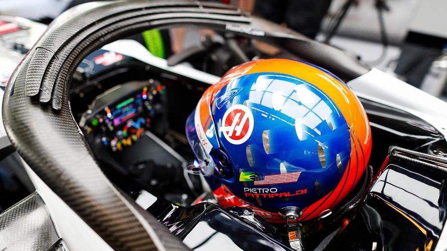 Pietro Fittipaldi durante sessão de testes em Abu Dhabi - Reprodução/Twitter