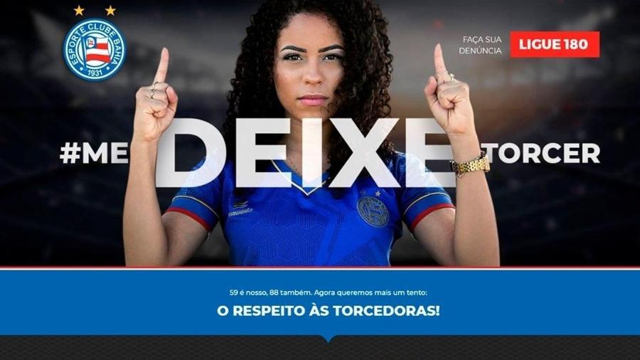 Bahia criou site para auxiliar mulheres vítimas de assédio em estádios - Divulgação/Bahia