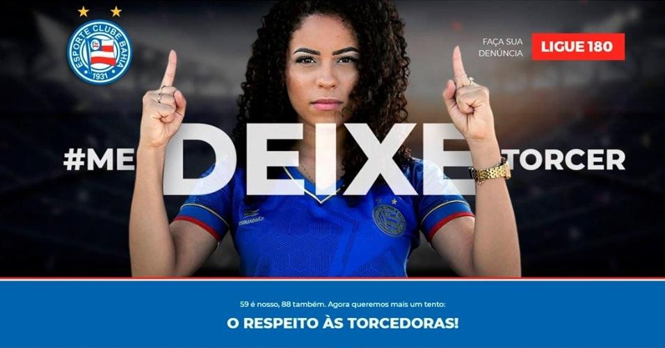 Bahia criou site para auxiliar mulheres vítimas de assédio em estádios