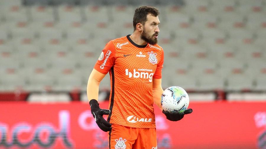 Walter em ação pelo Corinthians; goleiro foi diagnosticado com coronavírus, mas novos exames trouxeram resultado negativo - Rodrigo Coca/Agência Corinthians