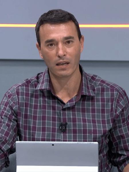 André Rizek, apresentador do Seleção SporTV - Reprodução/SporTV