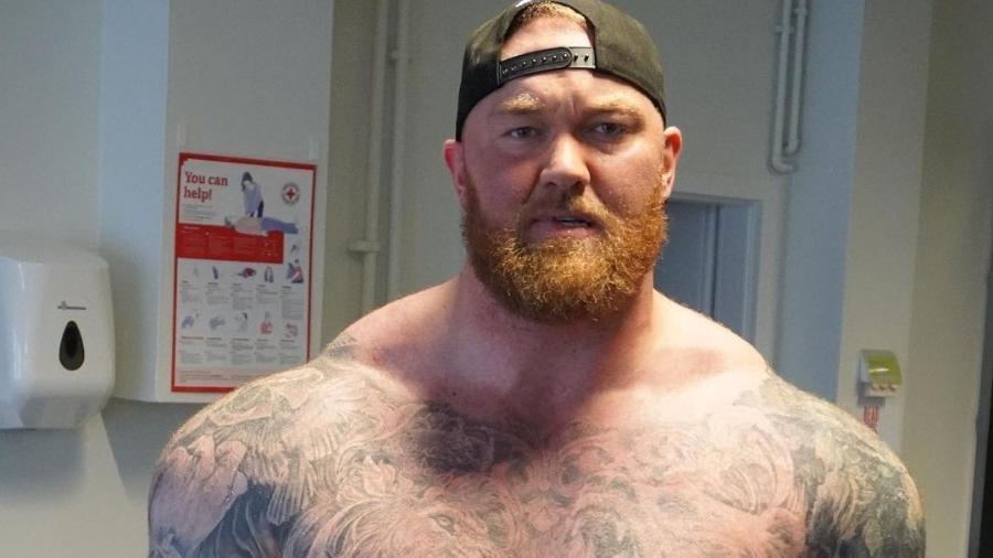 Hafthór Júlíus Björnsson tinha 205kg e perdeu peso; ator também é lutador de boxe - Reprodução
