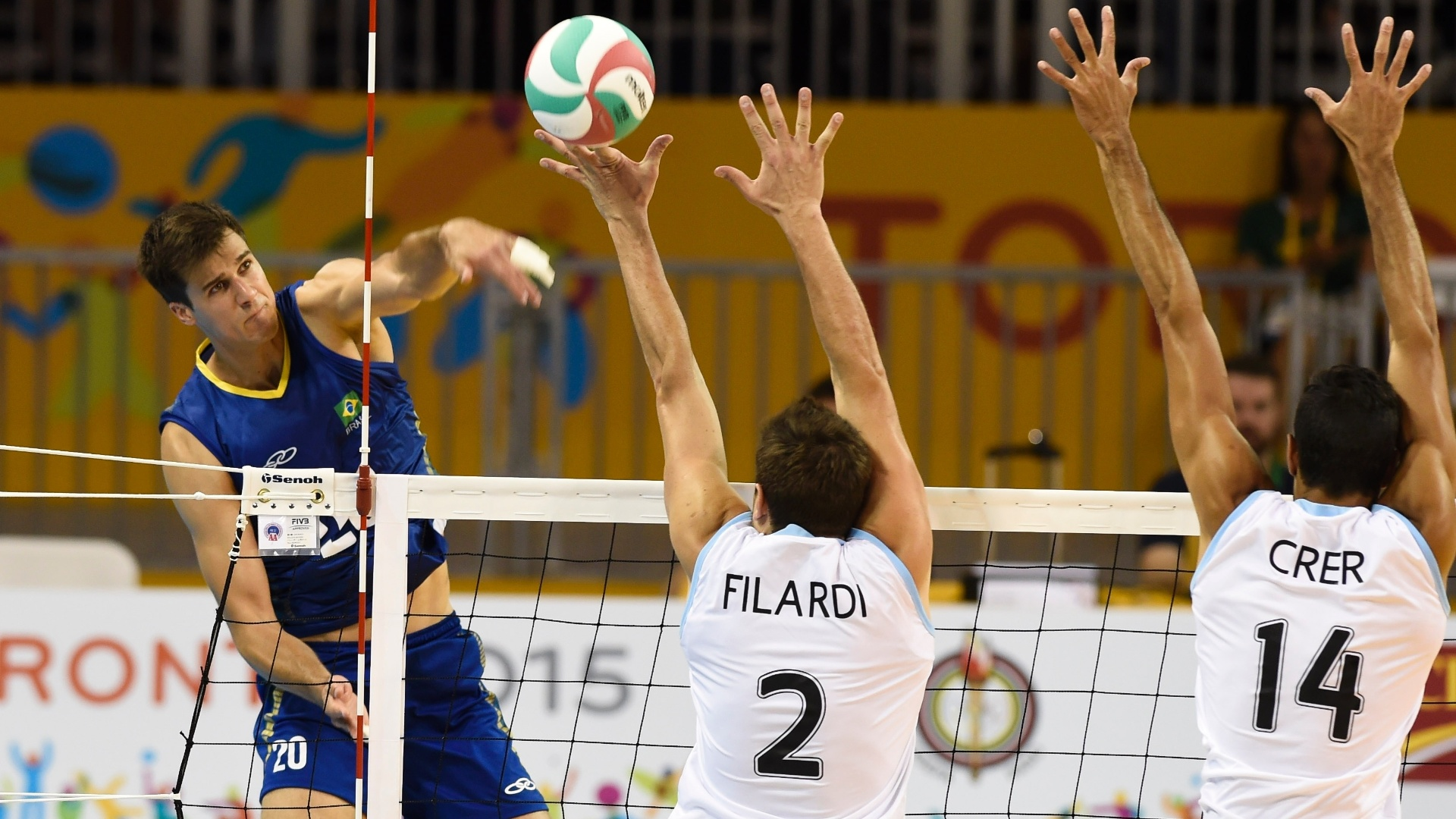 Brasil enfrenta a Argentina pelo vôlei masculino