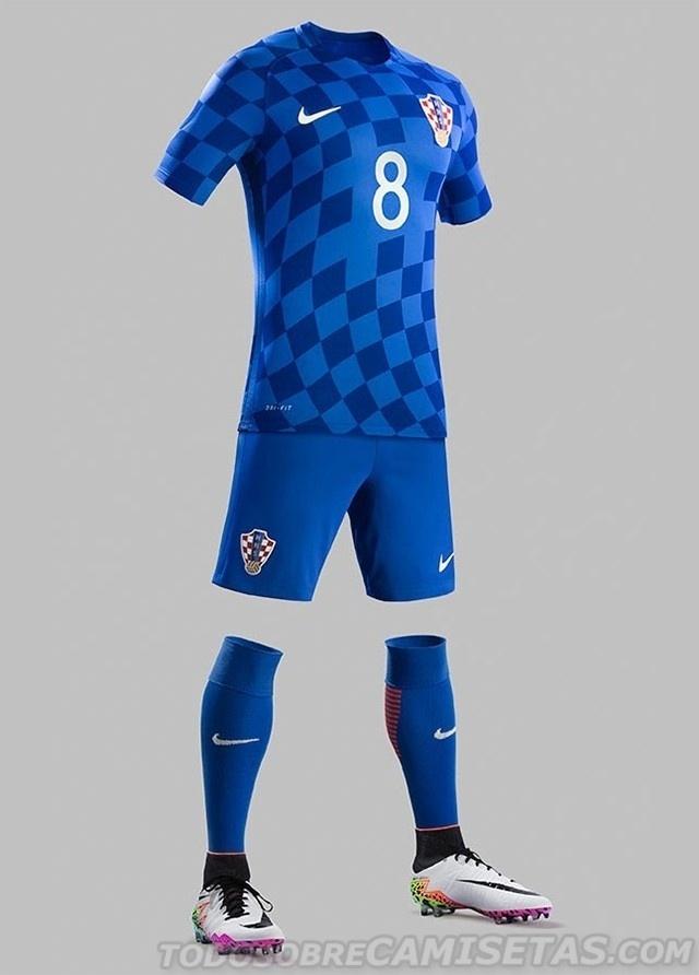 GRUPO D: Croácia (camisa reserva, Nike)
