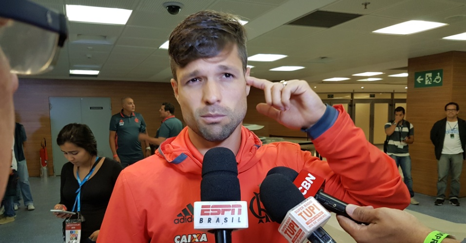 Diego dá explicações após o empate entre Flamengo e Botafogo por 0 a 0