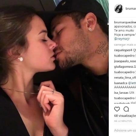 Bruna Marquezine em foto de beijo de Dia dos Namorados - Reprodução/Instagram