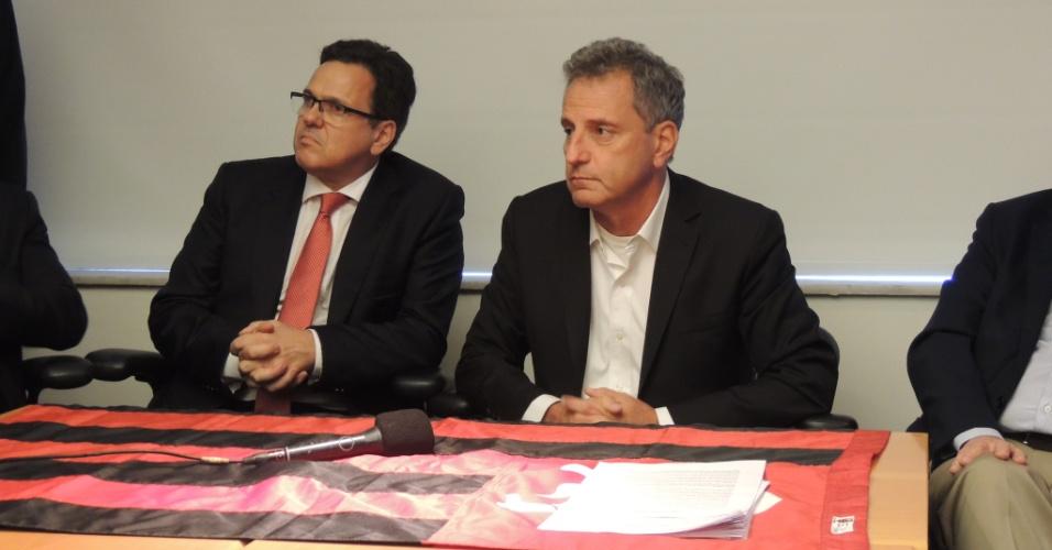 Rodolfo Landim (d) ao lado do vice Rodrigo Dunshee: chapa de oposição no Flamengo