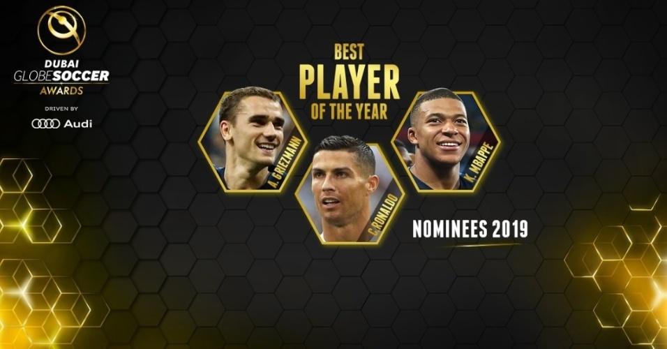 CR7, Griezmann e Mbappé são os indicados para conquistar o prêmio