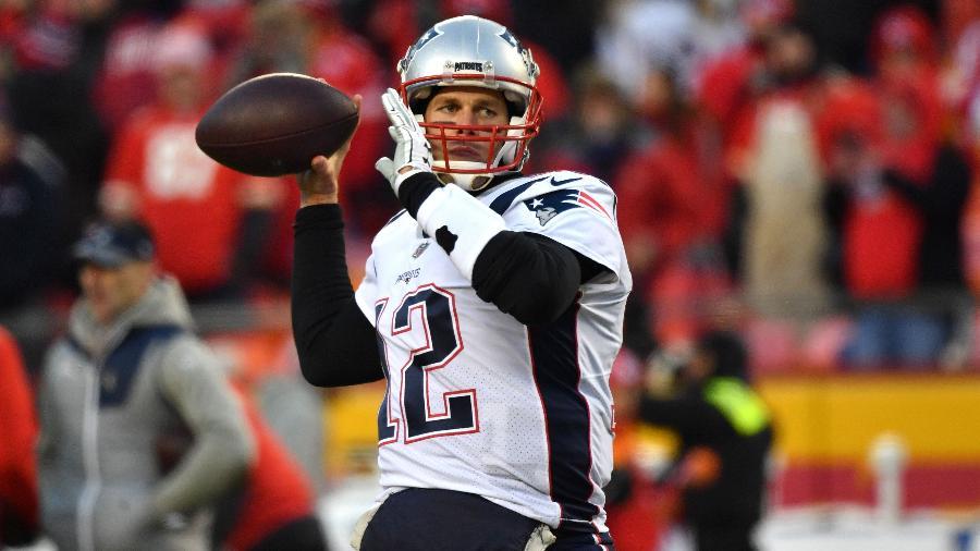 Tom Brady, durante partida entre New England Patriots e Kansas City Chiefs - Peter Aiken/Getty Images/AFP